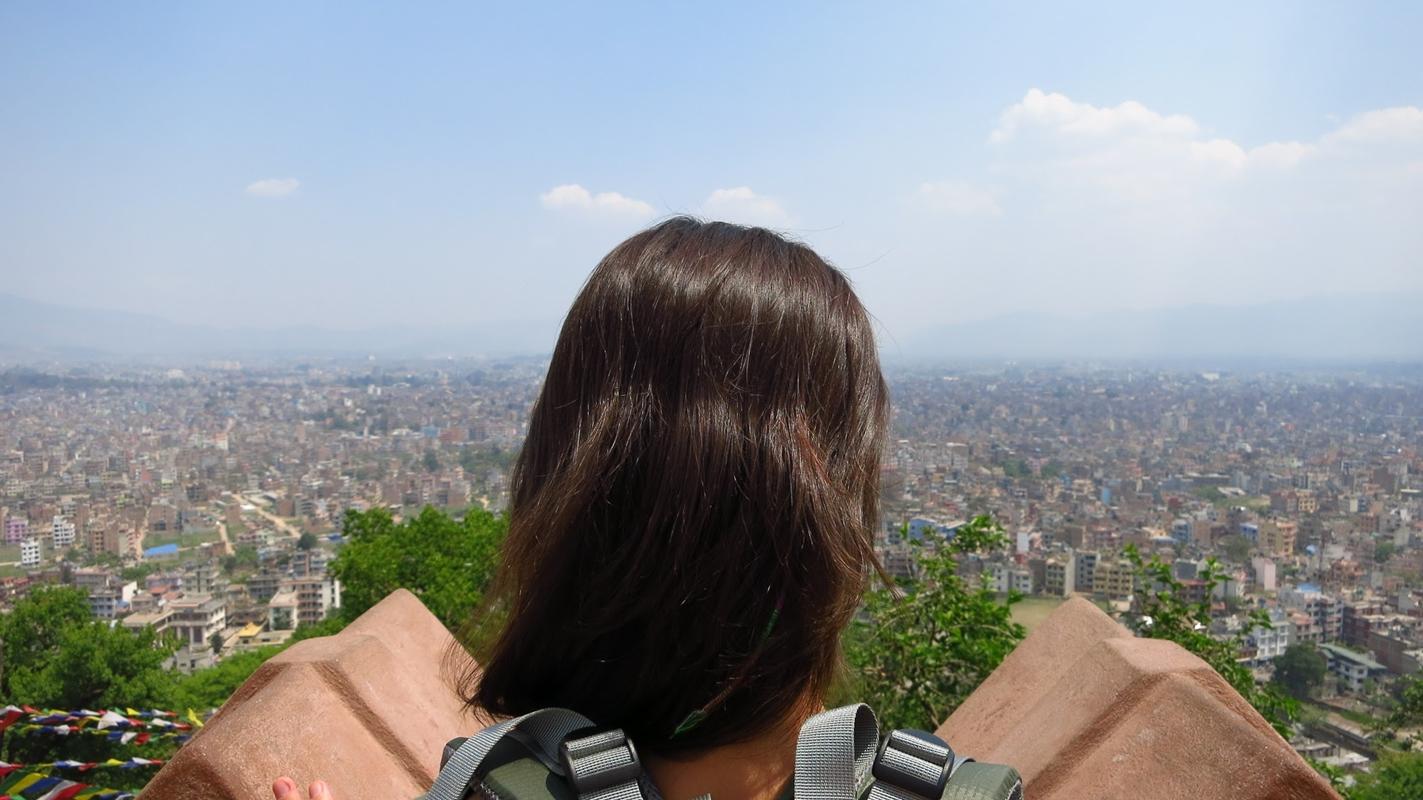 Der Blick auf Kathmandu