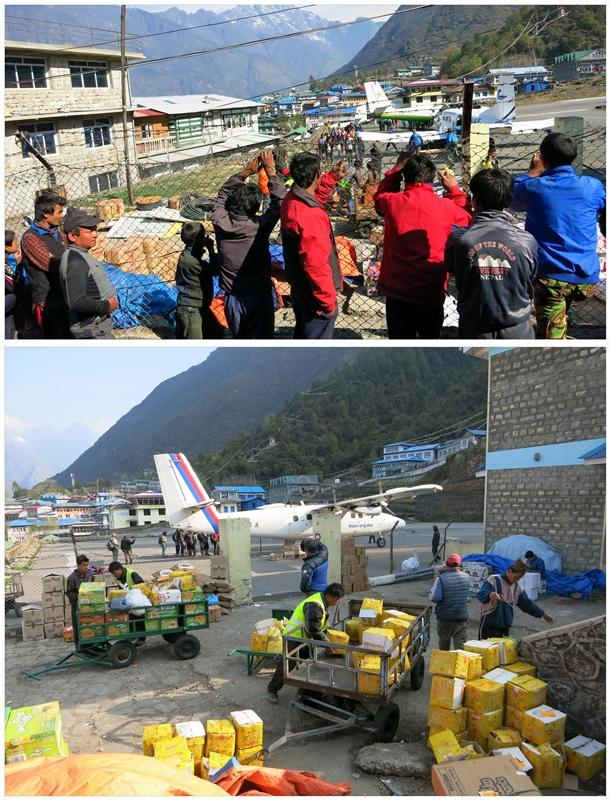 Flughafen-Lukla. Heimat der Sherpa