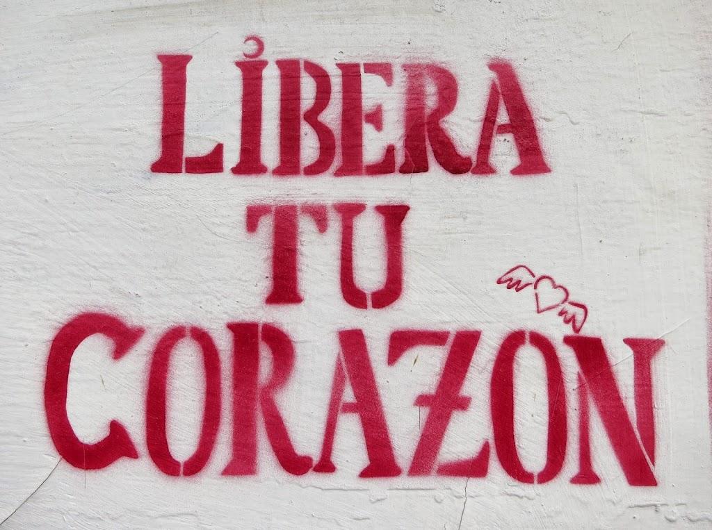 Befreie dein Herz Streetart Chile