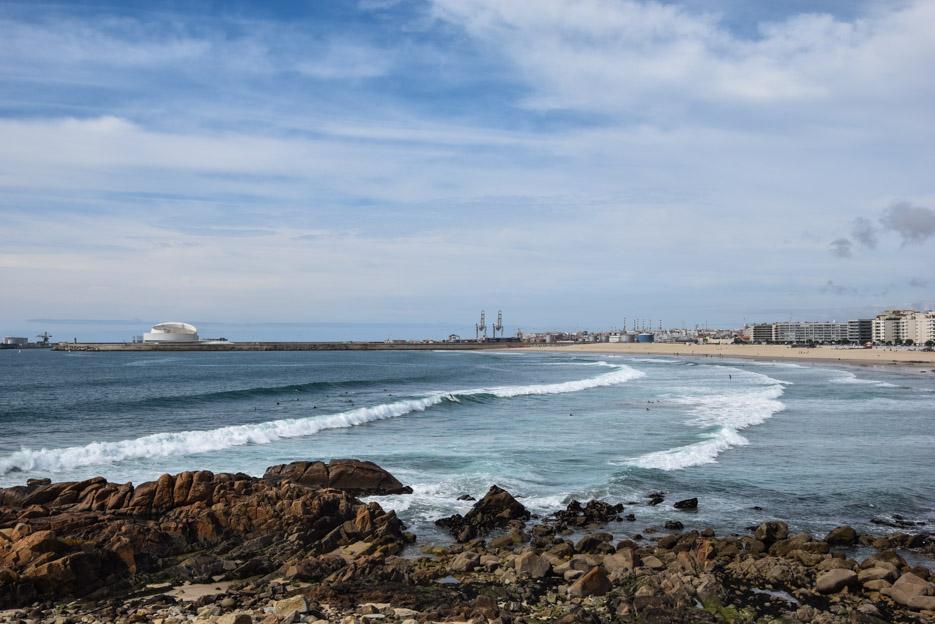 Strand zum surfen Porto