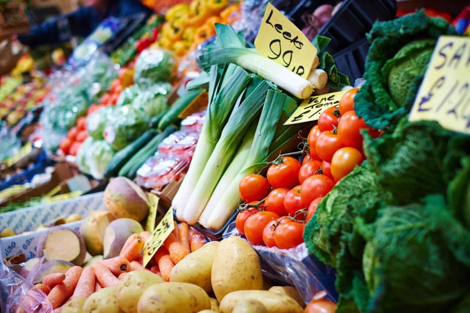 Fruit & Veg stall, Central Market, St Helier