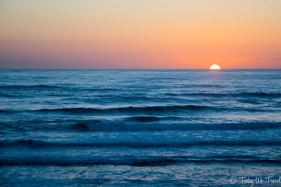sonnenuntergang algarve strand