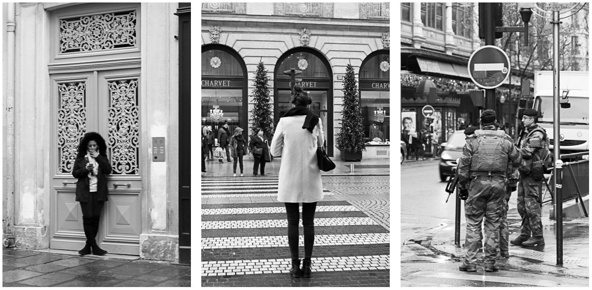 black and white street photography paris