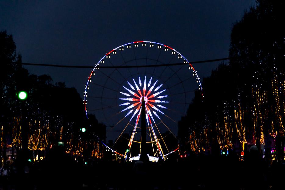 Champs Elysées, Paris, Nacht