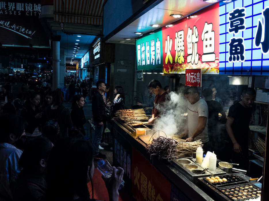 shenzhen china streetfood fleisch grill