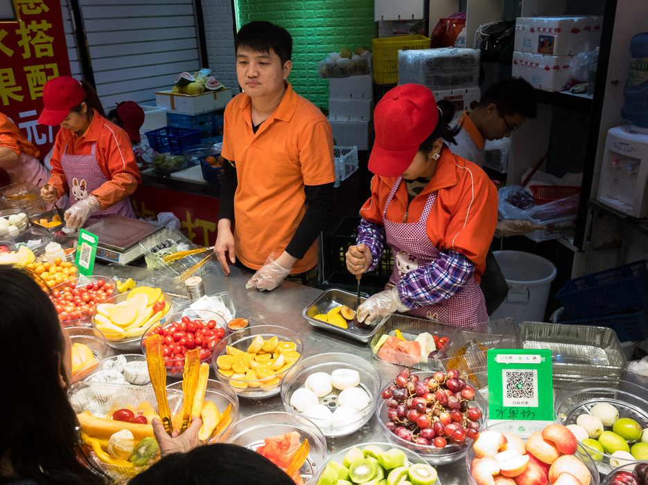 Shenzhen Obst Streetfood Obstsalat China