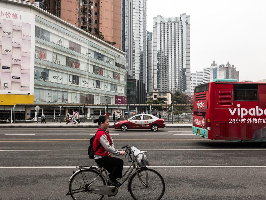 Shenzhen Fahrrad Verkehr