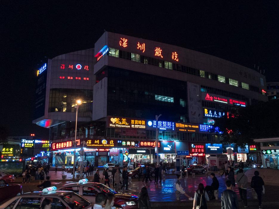 shenzhen china neonreklame nachtfotografie