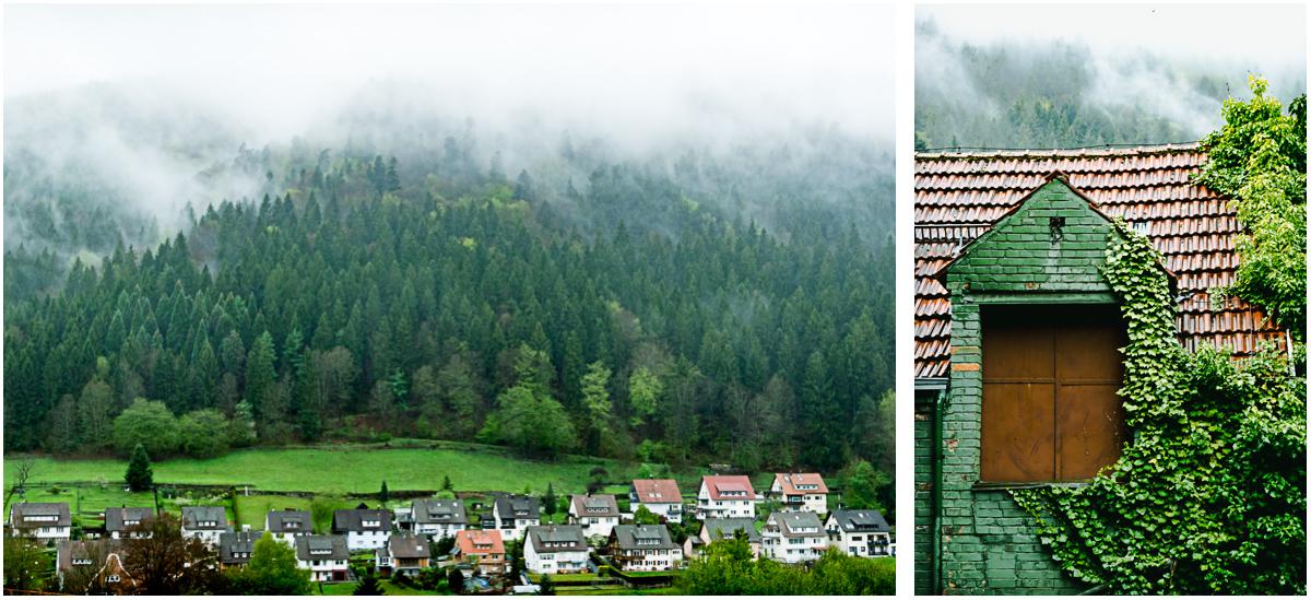 Hoefen an der Enz Nordschwarzwald Ort Unterkunft Nebel Regen