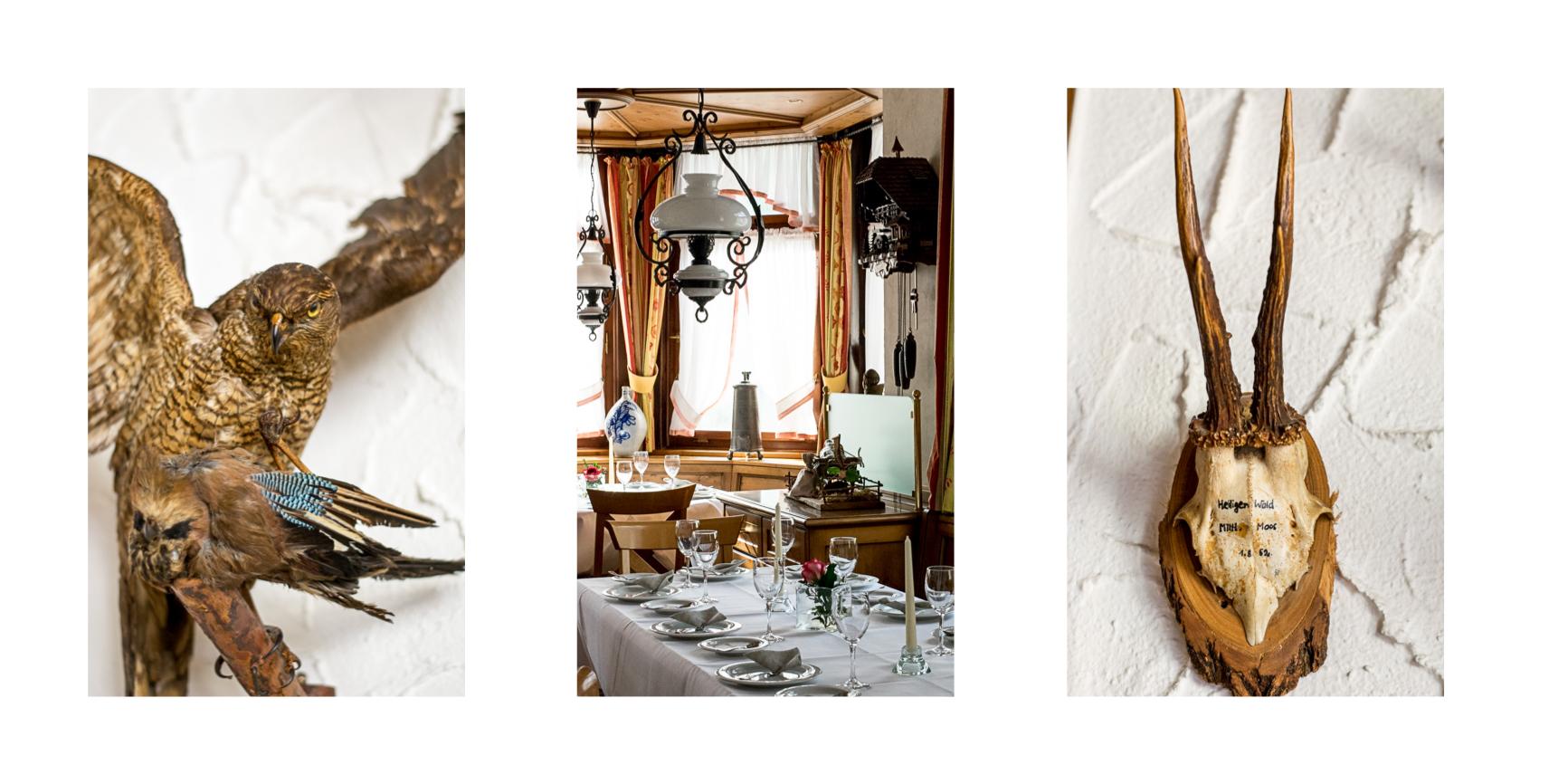 Hotel Ochsen Enz Jagdzimmer Jagd Restaurant Jaegerstube
