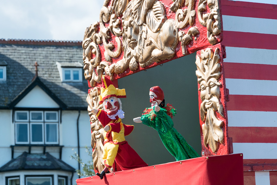 Llandudno Codmans Punch and Judy Kasperletheater Wales Kinder