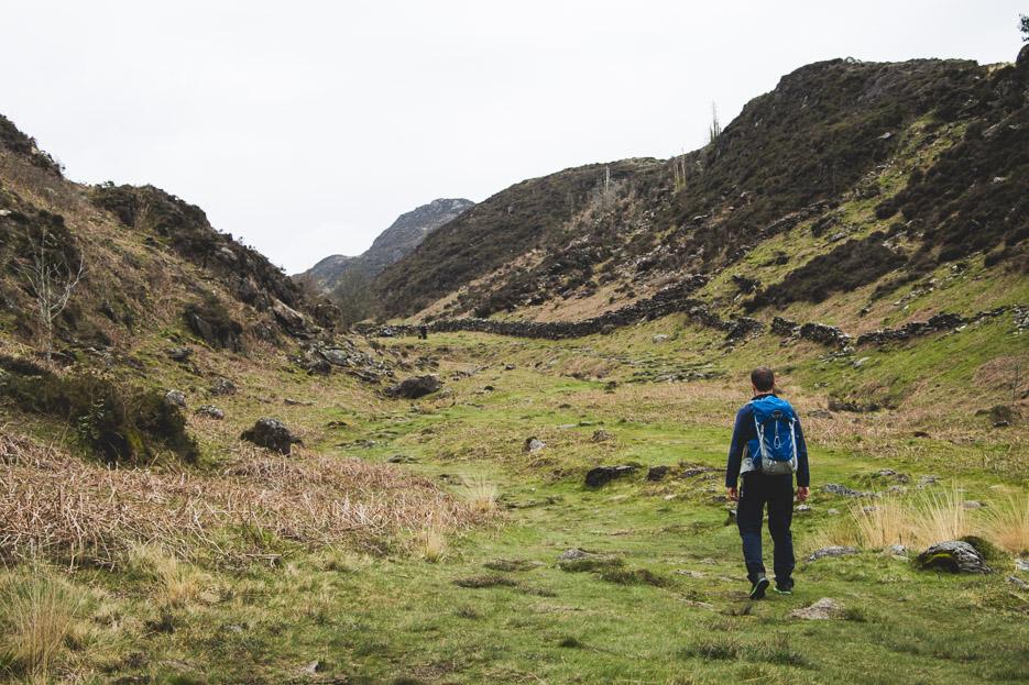 Beddgelert Snowdonia Wanderung walisisches Hochland