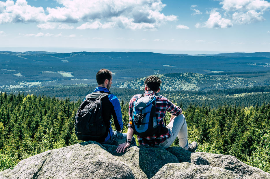 Harz Wanderung Tipps Ausblick Leistenklippe Brocken