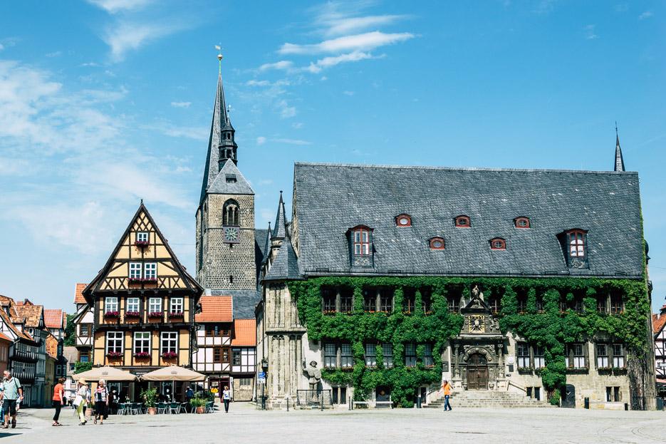 quedlinburg altstadt marktplatz