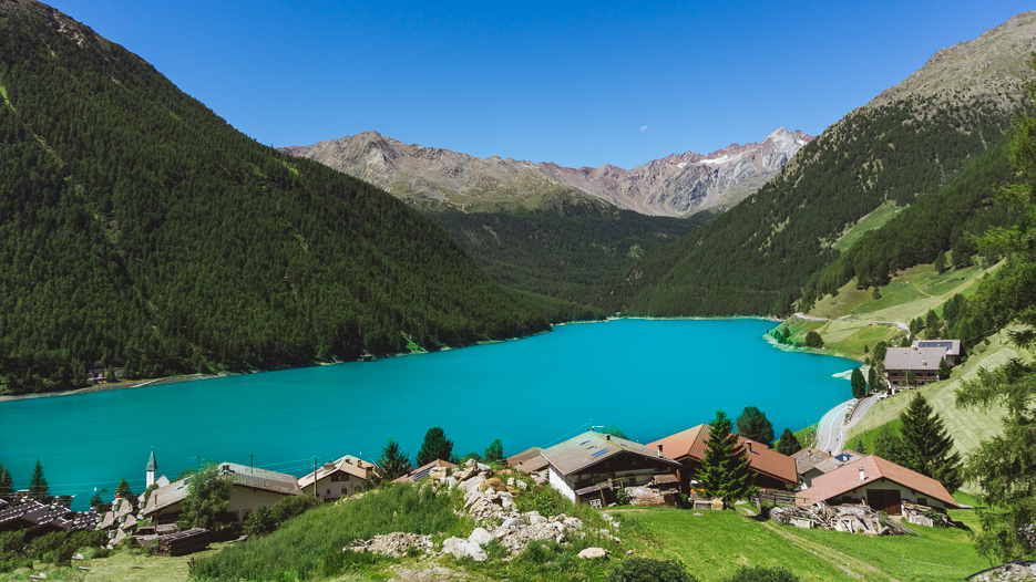 Stausee Vernagt Endpunkt Alpenüberquerung