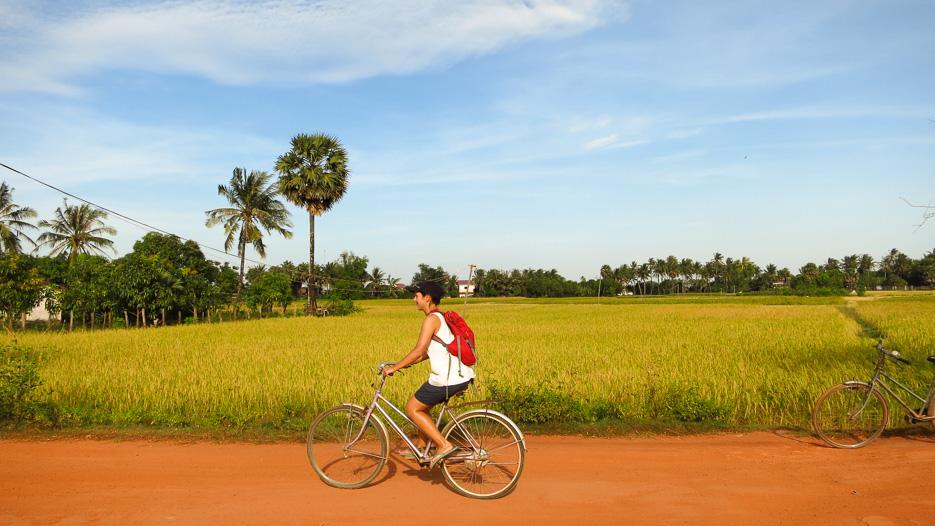 Nachhaltiges Reisen - Kambodscha Fahrrad