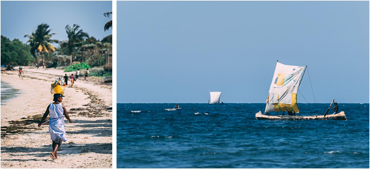 madagaskar tulear ifaty fischerboote pirogen strand urlaub