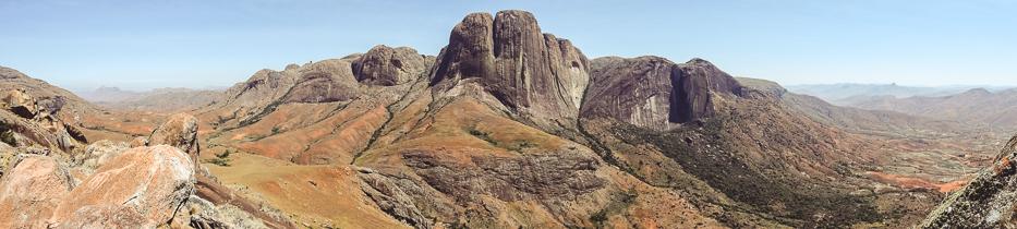 Tsaranoro Valley Panorama Berge Madagaskar