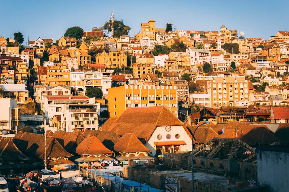 Häuser Antananarivo Madagaskar