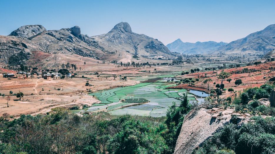 Madagaskar Anja Lemurenreservat Erfahrung Landschaft Panorama Landschaftsfoto
