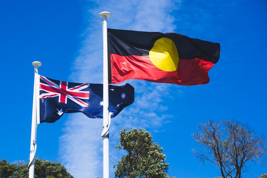 Flagge Australien Aborigines