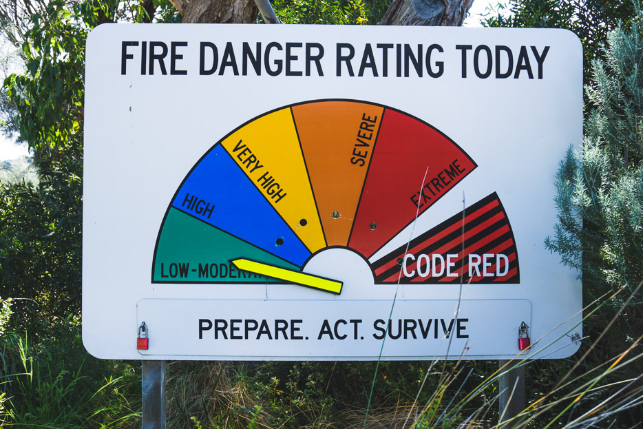 Fire Danger Rating Wilson's Promontory