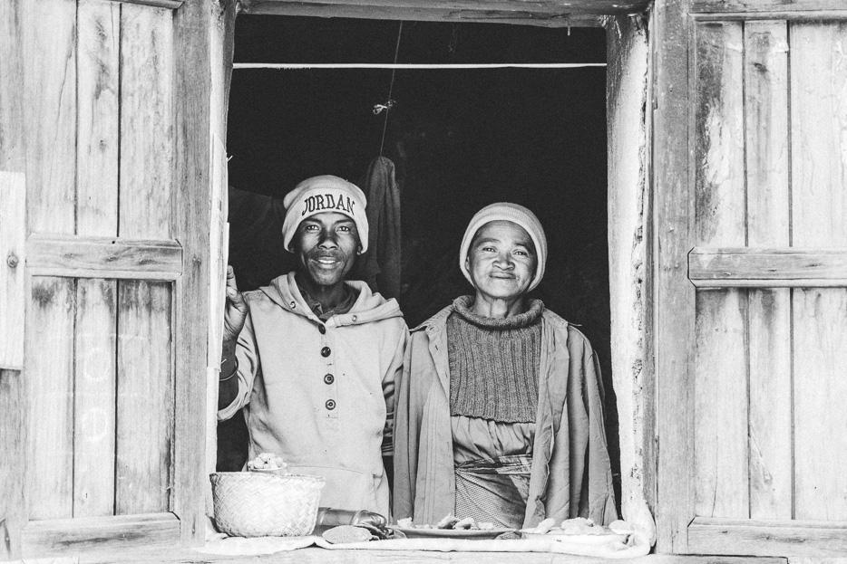 Madagaskar Menschen Betsileo Dorf