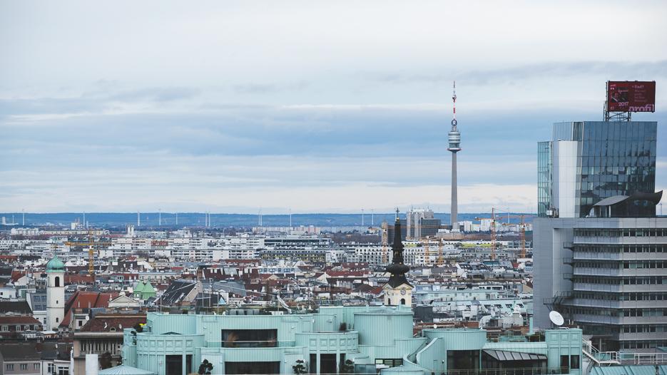 Wien Stephansdom Aussicht Pummerin Donauturm