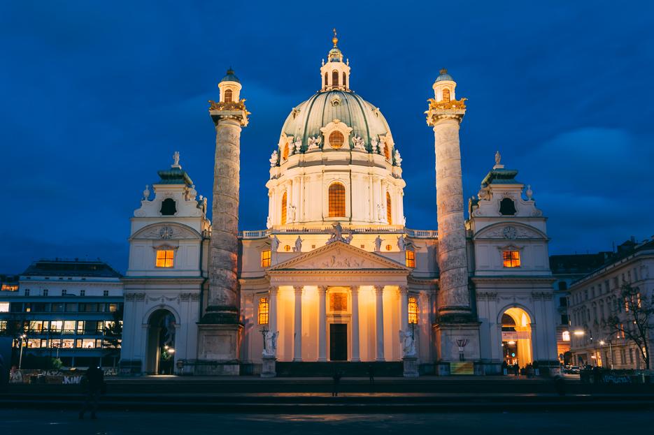 Karlskirche Wien Nacht Beleuchtet Tipps Nachtfoto