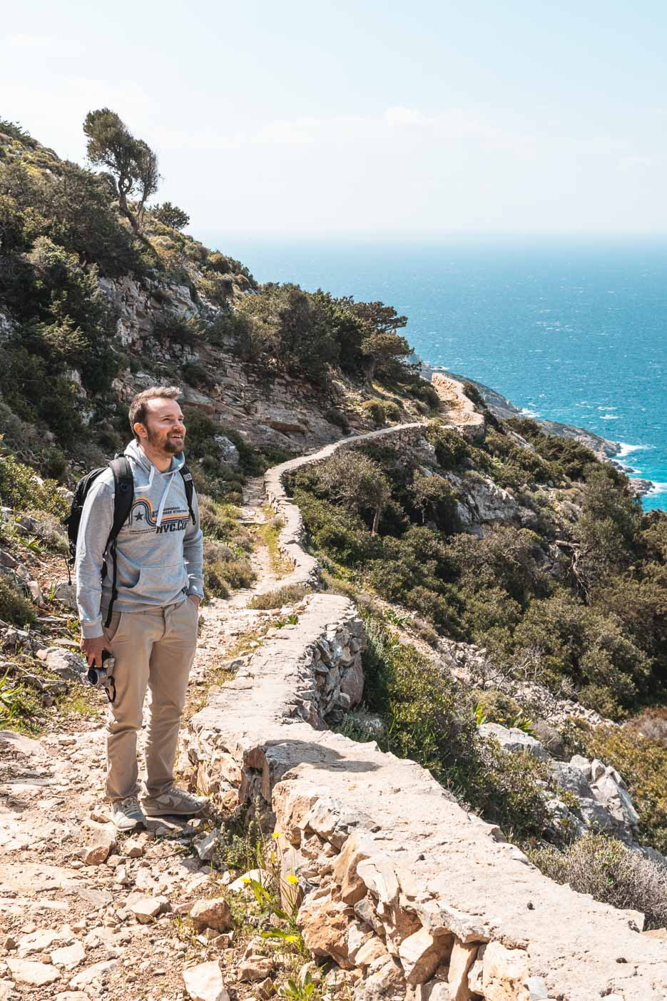 Agios Ioannis Iraklia Kykladen Griechenland Wanderweg
