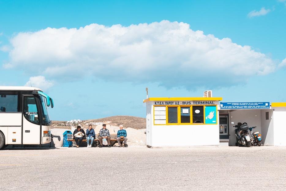 Kykladen Griechenland bus fahren paros