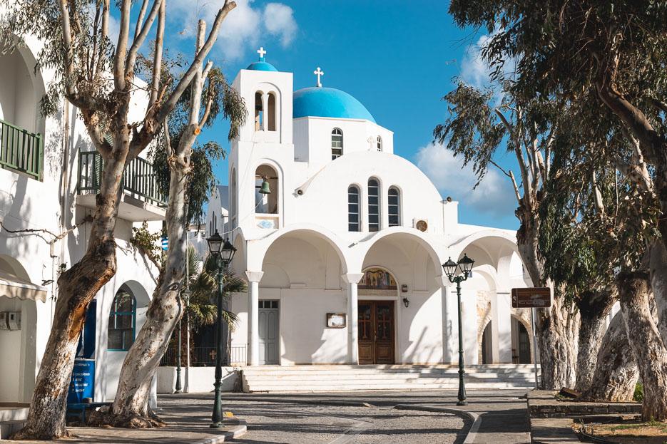 Paros Kykladen Griechenland Naoussa Kirche