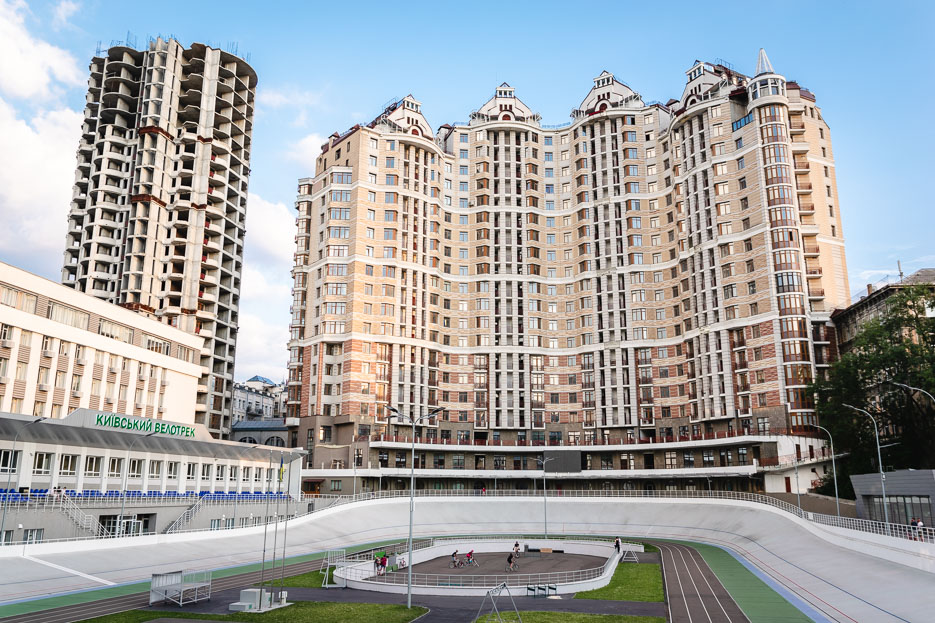 moderne hochhaussiedlung kiew
