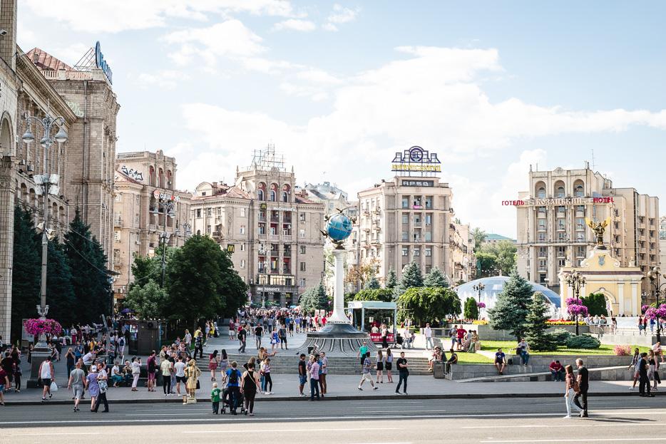 Kiew maidan majdan sonntag autos