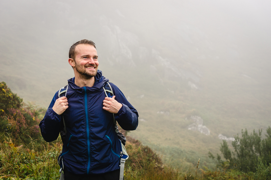 Hiker Rain Ireland