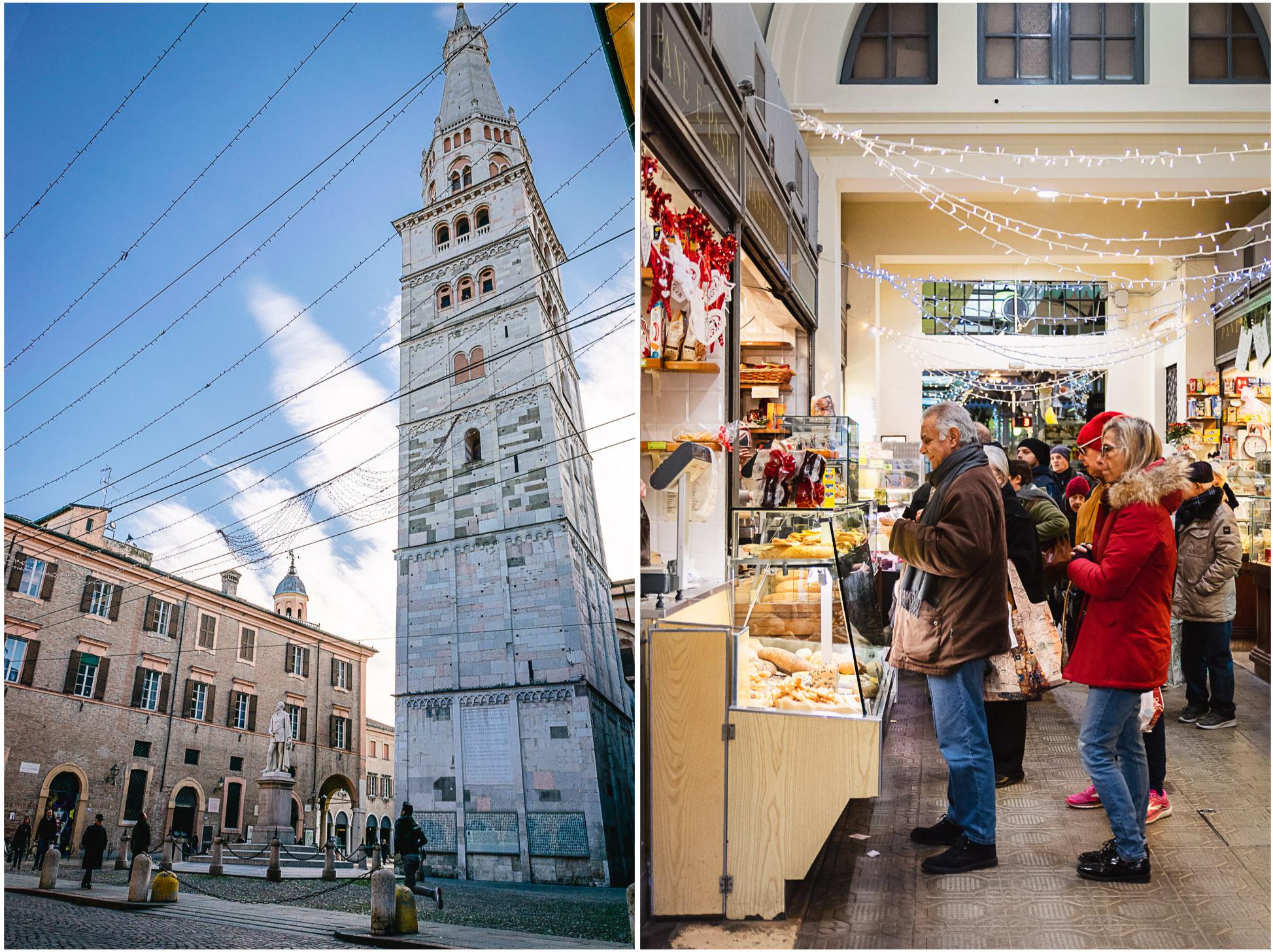 modena italien torre ghirlandina mercato albinelli