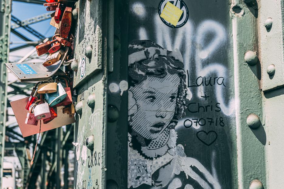 Street Art Köln Hohenzollernbrücke