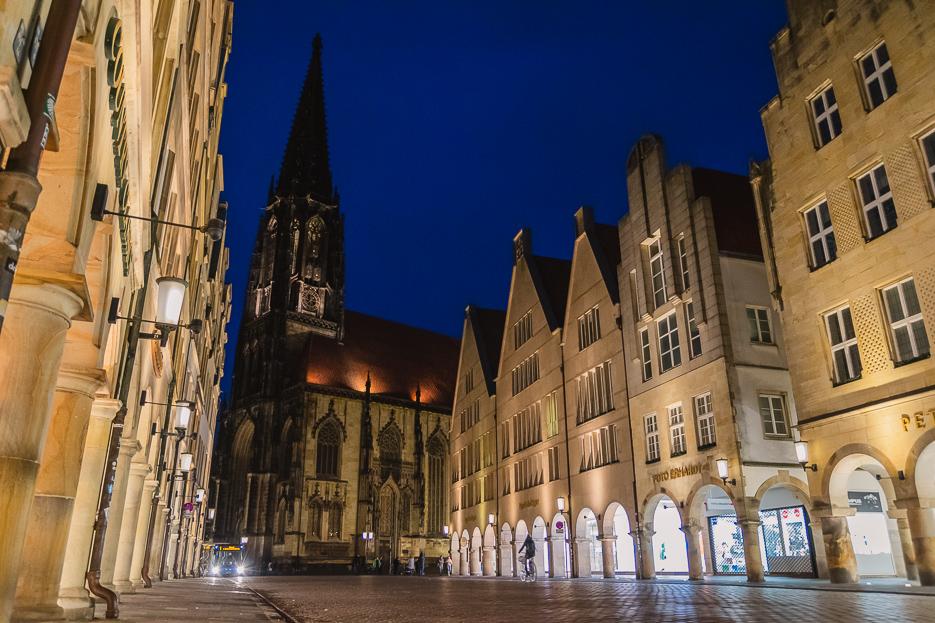 münster prinzipalmarkt st lamberti kirche nachtaufnahme nachts tipps sehenswürdigkeiten