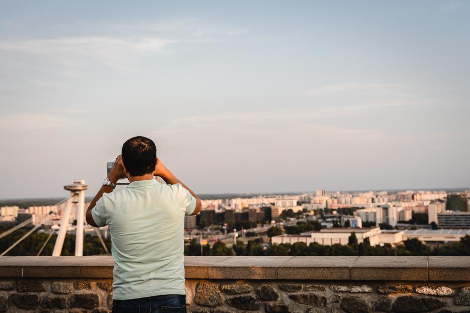 Burg Bratislava Aussicht Terrasse