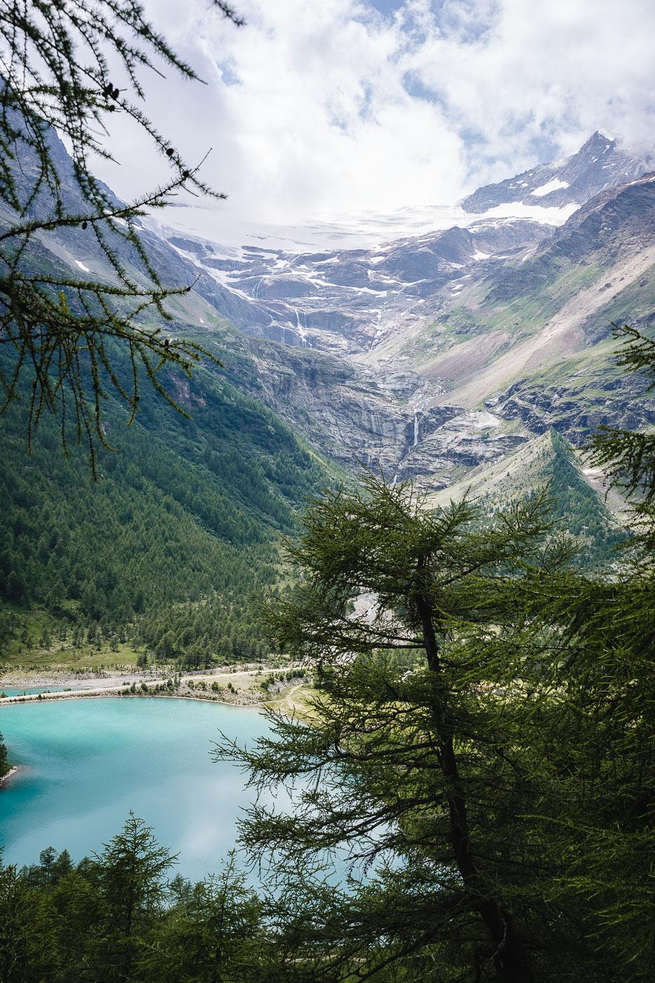 schweiz graubünden piz palü gletschersee