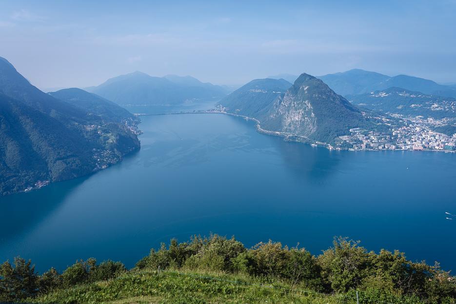 Aussicht Monte Bré Lugano Panorama