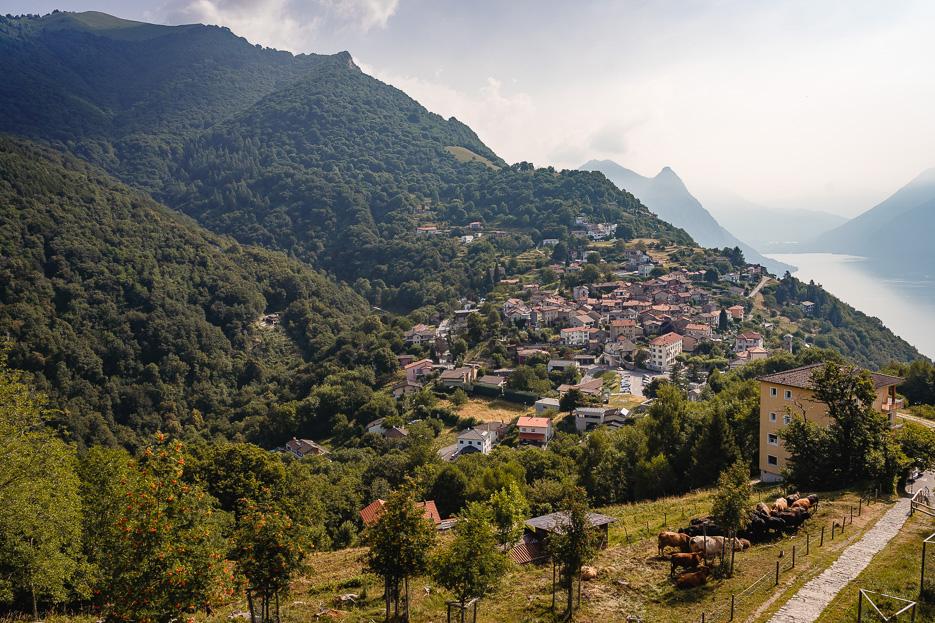 Dorf Bré Lugano Tessin Schweiz