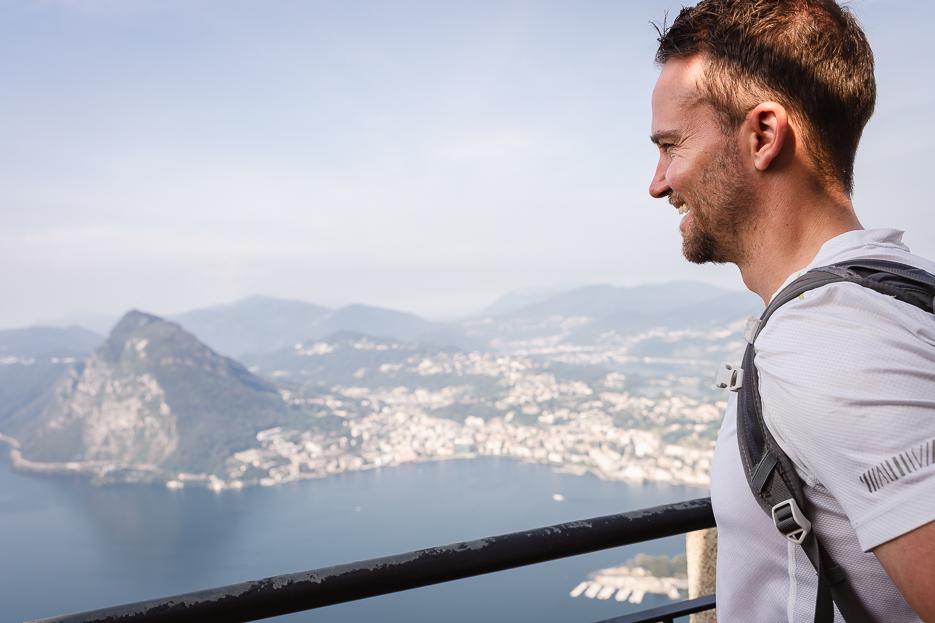 Aussicht Monte Bré Lugano Schweiz