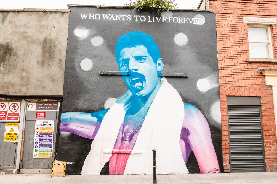Dublin Streetart Graffiti Freddy Mercury Queen