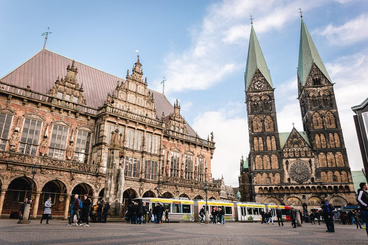 Bremen Innenstadt Rathaus Dom